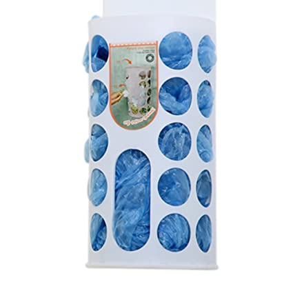chiccharming reciclaje dispensador de plástico bolsa de la compra bolsa de basura de almacenamiento soporte para