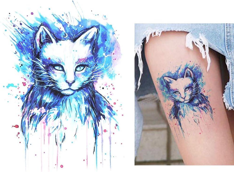 Gato Tattoo katzentat adhesivo multicolor Colores falso tatuaje ...