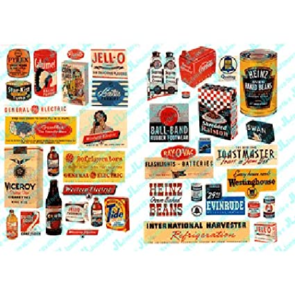 Amazon HO Scale Consumer Product Posters 1940s 1950s