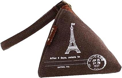 Zipper Style Women/'s Pouch Wallet Triangle Bag Coin Purse Canvas Change Purse