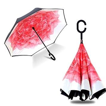 énorme réduction 9411c 17ccf IrahdBowen Parapluies inversés à Double Couche de Parapluie ...