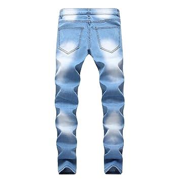 Pantalones vaqueros rotos hombre baratos streetwear,jeans ...