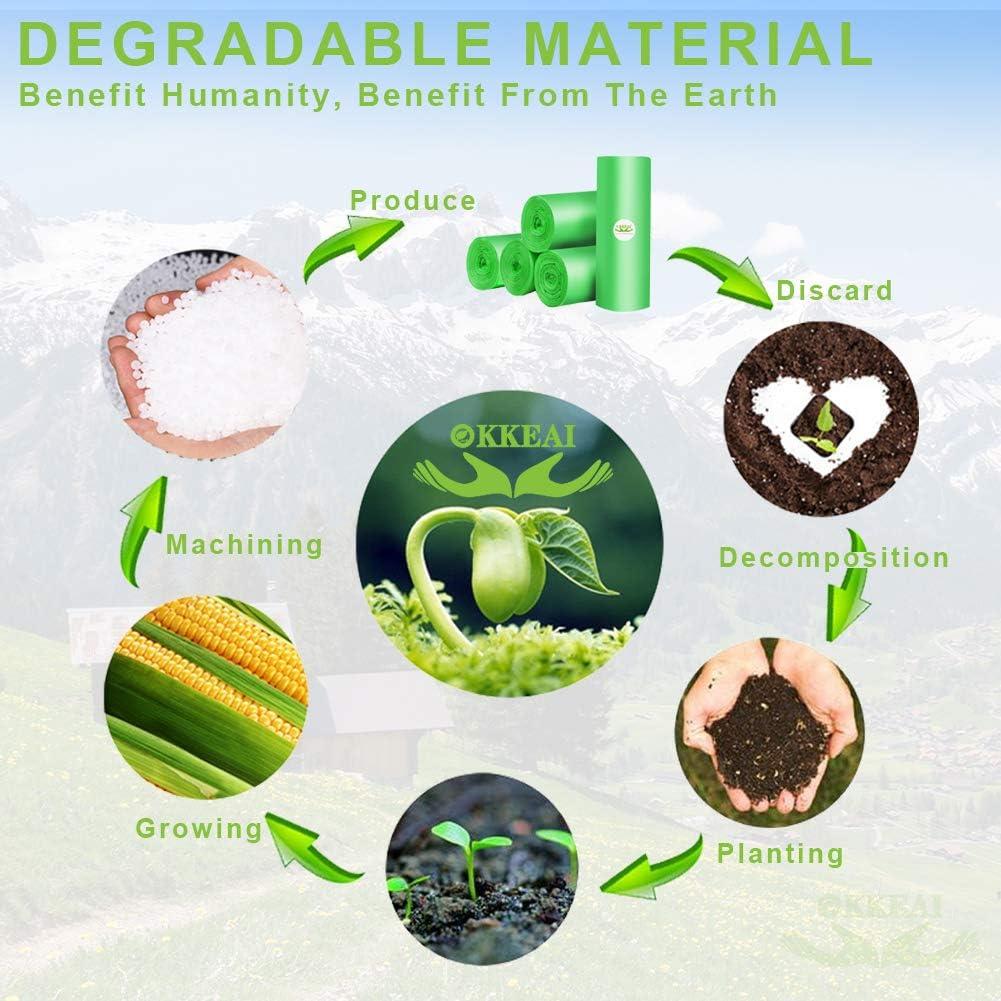 Bolsas de basura biodegradables de 150 unidades, 4 galones, bolsas ...