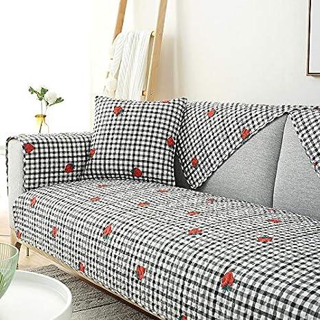 Sofá de algodón Puro tapete de Tela Cuatro Estaciones de ...