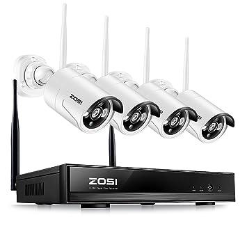 ZOSI Kit de Cámaras de Vigilancia WiFi 960P Sistema de Seguridad 4CH HD NVR + (