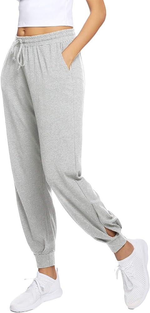 Hawiton Pantalones Deportivos para Mujer Algodón Pantalones de ...