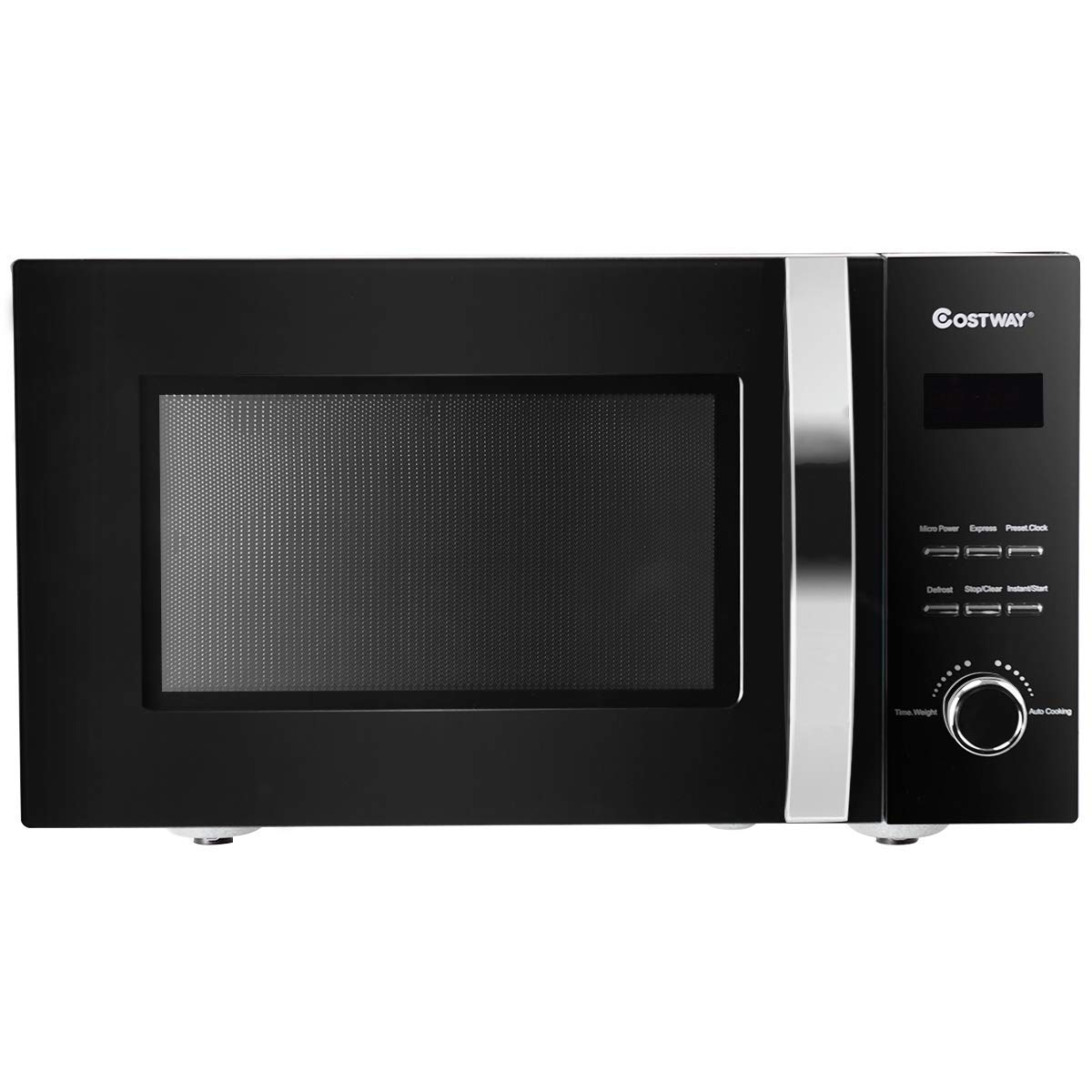 COSTWAY Forno a microonde microonde con grill 23L, 800W e 5 livelli di potenza, nero