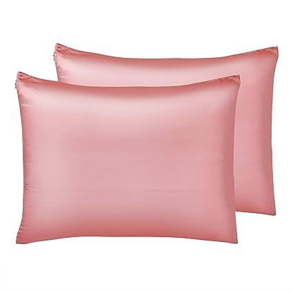 Amazon Com Iuniqee Satin Pillowcase Set Of 2 Super Soft Luxury