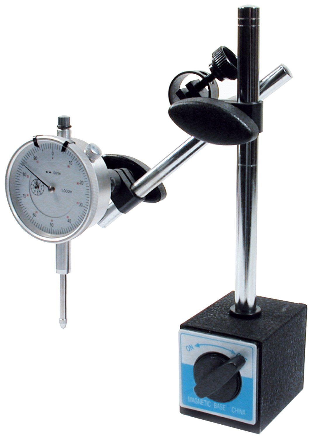 Allstar ALL96414 0.001 to 1-0.001 Increment Dial Indicator with Magnetic Base