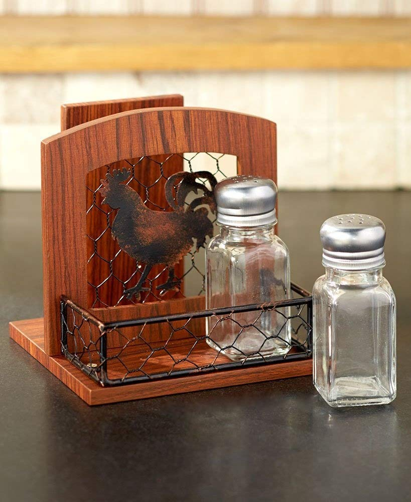 The Lakeside Collection Country Kitchen Napkin Holder- Rooster