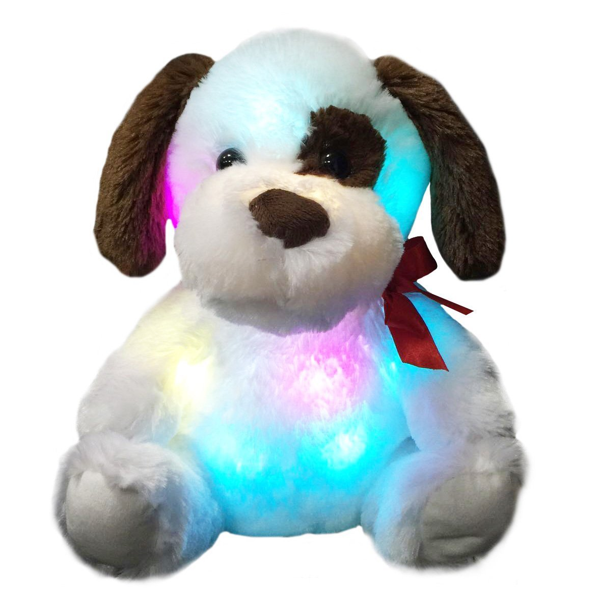 fd453a3e1 Amazon.com: WEWILL Glow Puppy Stuffed Animal Dog Plush Toy LED Nightlight  Companion Gift for Kids on Birthday Christmas,12-Inch: Toys & Games