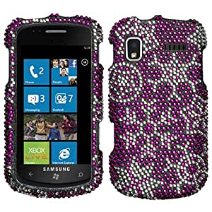 Snow Flakes Crystal Bling Diamond Protector Case for Samsung Focus SGH-i917