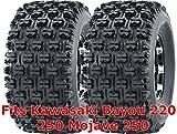 Set 2 WANDA ATV Tires 22x10-10 Kawasaki Bayou 220 250 Mojave 250 Rear GNCC Race