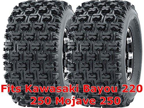 (Set 2 WANDA ATV Tires 22x10-10 Kawasaki Bayou 220 250 Mojave 250 Rear GNCC Race)