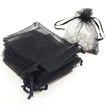 100 bolsas de regalo de organza de 9 x 12 cm, bolsas de ...