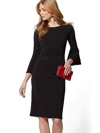 b28caf23 New York & Co. Women's Double Ruffle Sheath Dress - Magic Crepe - 7Th  Avenue at Amazon Women's Clothing store: