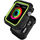 UMTELE Compatible for Apple Watch Rugged Case 42mm, Shock Proof Bumper Cover Scratch Resistant Protective Case…