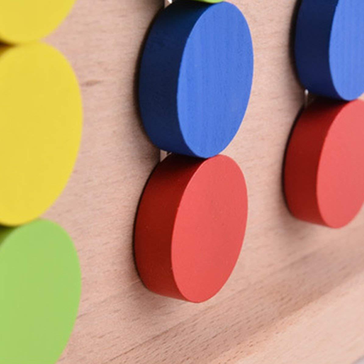 Aide /à lapprentissage des Jouets pour Enfants Montessori Illumination DoMoment Jeu en Bois /à Quatre Couleurs