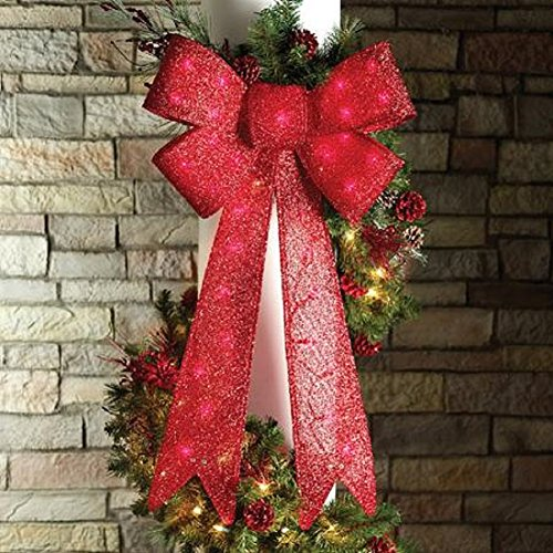 Outdoor Lighted Bows - 5