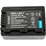 【WELLSKY】 Panasonic パナソニック ● VW-VBT190-K 互換バッテリー ● 純正充電器で充電可能 残量表示可能 純正品と同じよう使用可能 ● HC-V210M / HC-V230M / HC-V360M / HC-V480M / HC-V520M / HC-V550M / HC-V620M / HC-V720M / HC-V750M / HC-VX980M / HC-W570M / HC-W580M / HC-W850M / HC-W870M / HC-WX970M / HC-WX990M / HC-WXF990M