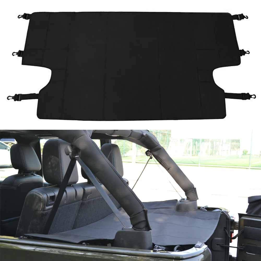 Bosmutus Cargo Cover Pro by Reversible for Top ON//Topless J-eep JKU JK TJ YJ JL Sports//Sahara//Freedom//Rubicon 2 Door 4 Door Unlimited 1985-2018 Models