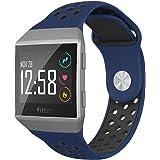 NO1seller Top Fitbit Ionic Band 小号 适合女士男士,软硅胶运动带替换配件,带通风孔,适用于 Fitbit Ionic 和 Adidas 智能手表
