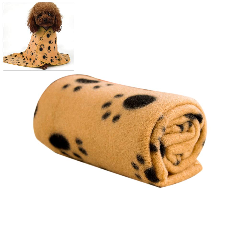 Haplws Coperta per Cani Coperta per Animali Domestici in Peluche a Doppia Faccia Coperta Morbida in Pile Coperta Calda Morbida per linverno 100 70 cm