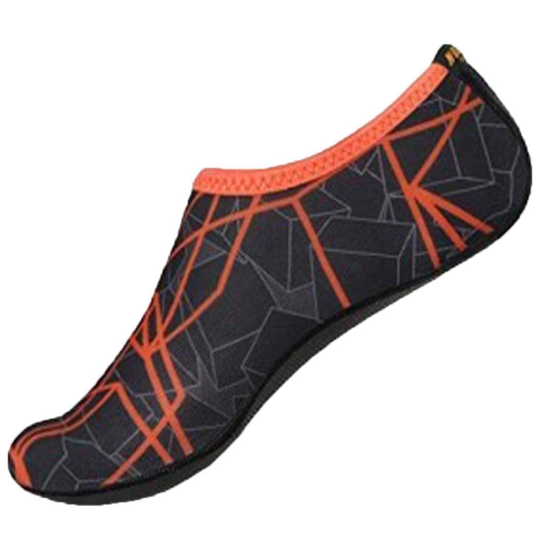 Malloom Water Socks Barefoot Skin Shoes Beach Surf Diving Home Slipper Pool Swimming Yoga Socks for Men Women (Gray, XS)