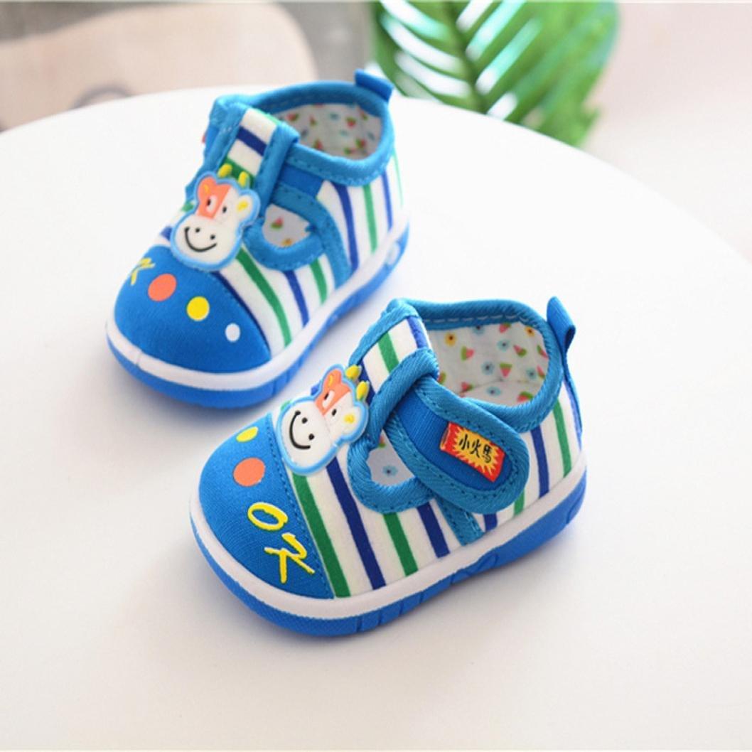 zapatos bebe niño niña Xinantime Infantil Niños Bebés y niñas Sandalias Zapatos antideslizantes de dibujos animados Zapatillas de suela blanda (21, ...