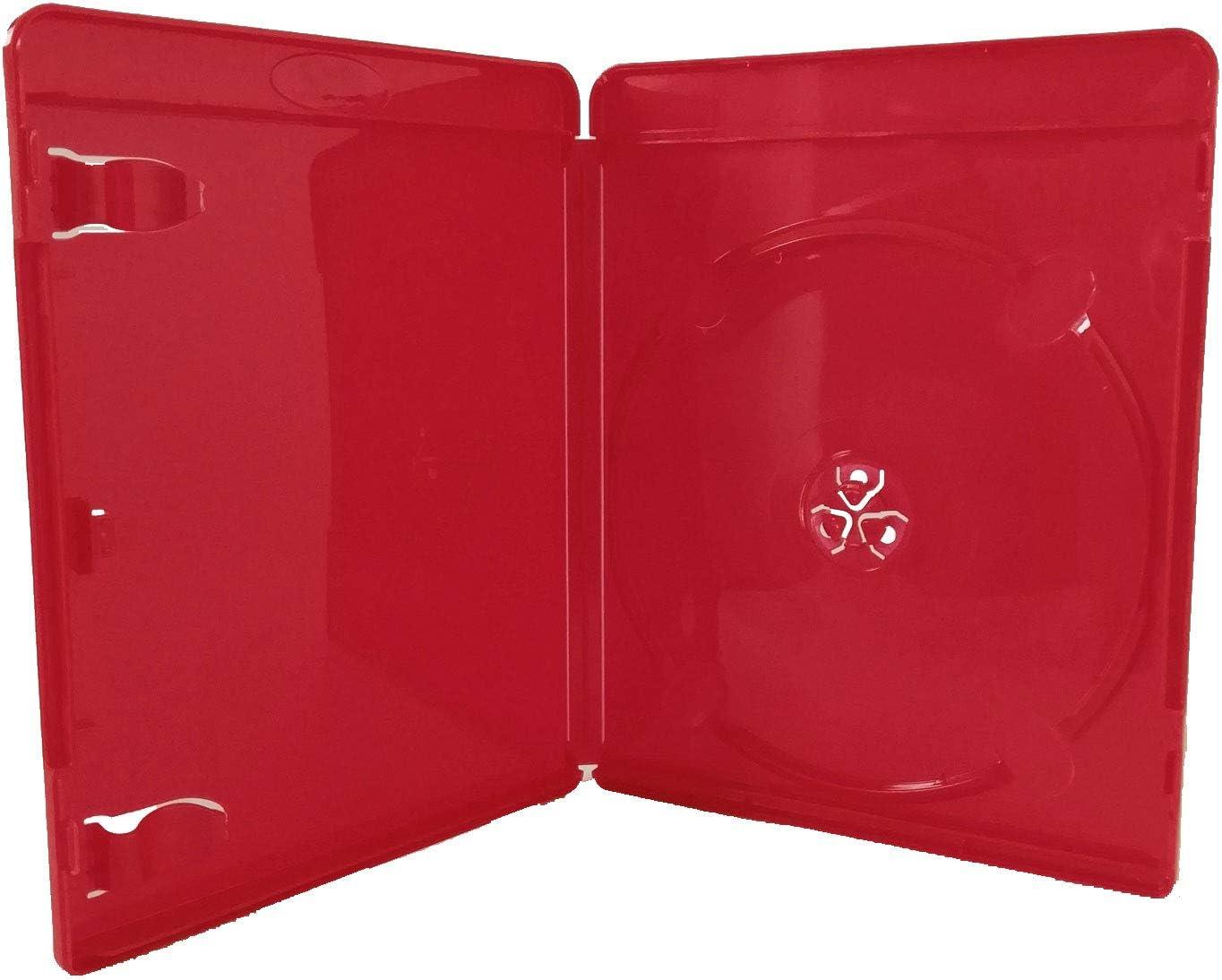 50 Blu Ray Hüllen 11 Mm Rot Für 1 Bluray Dvd Disc Hülle Computer Zubehör