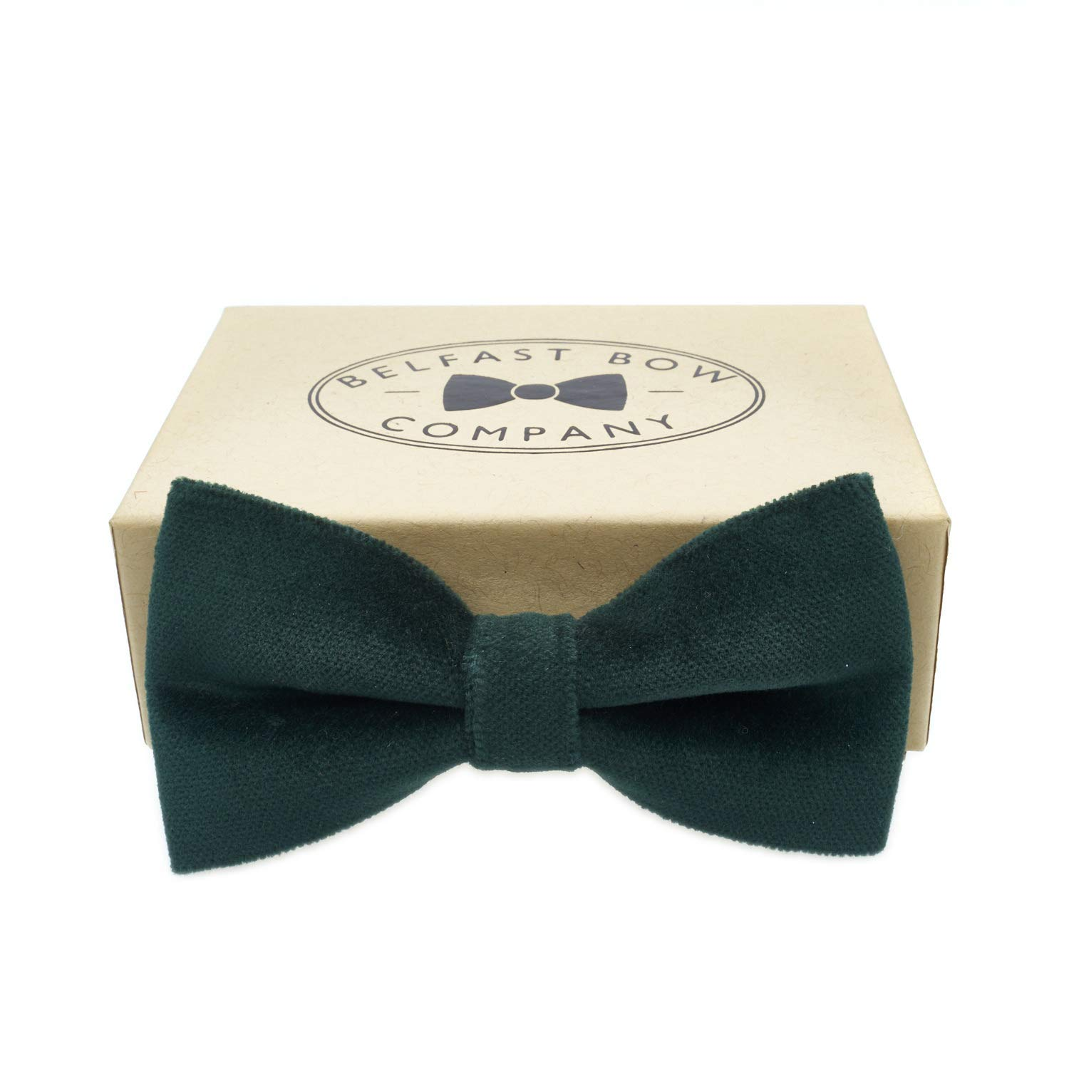 Handmade Velvet Bow Tie in Bottle Green - Adult & Junior sizes available