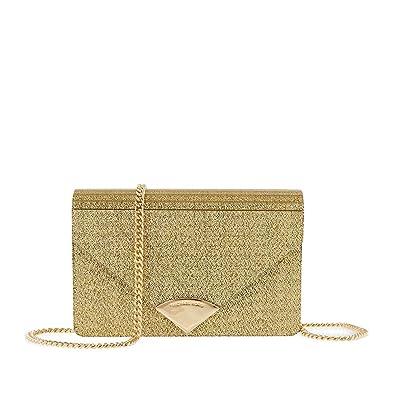 a613f7848cfa MICHAEL Michael Kors Women's Barbara Metallic Envelope Clutch, Gold, One  Size