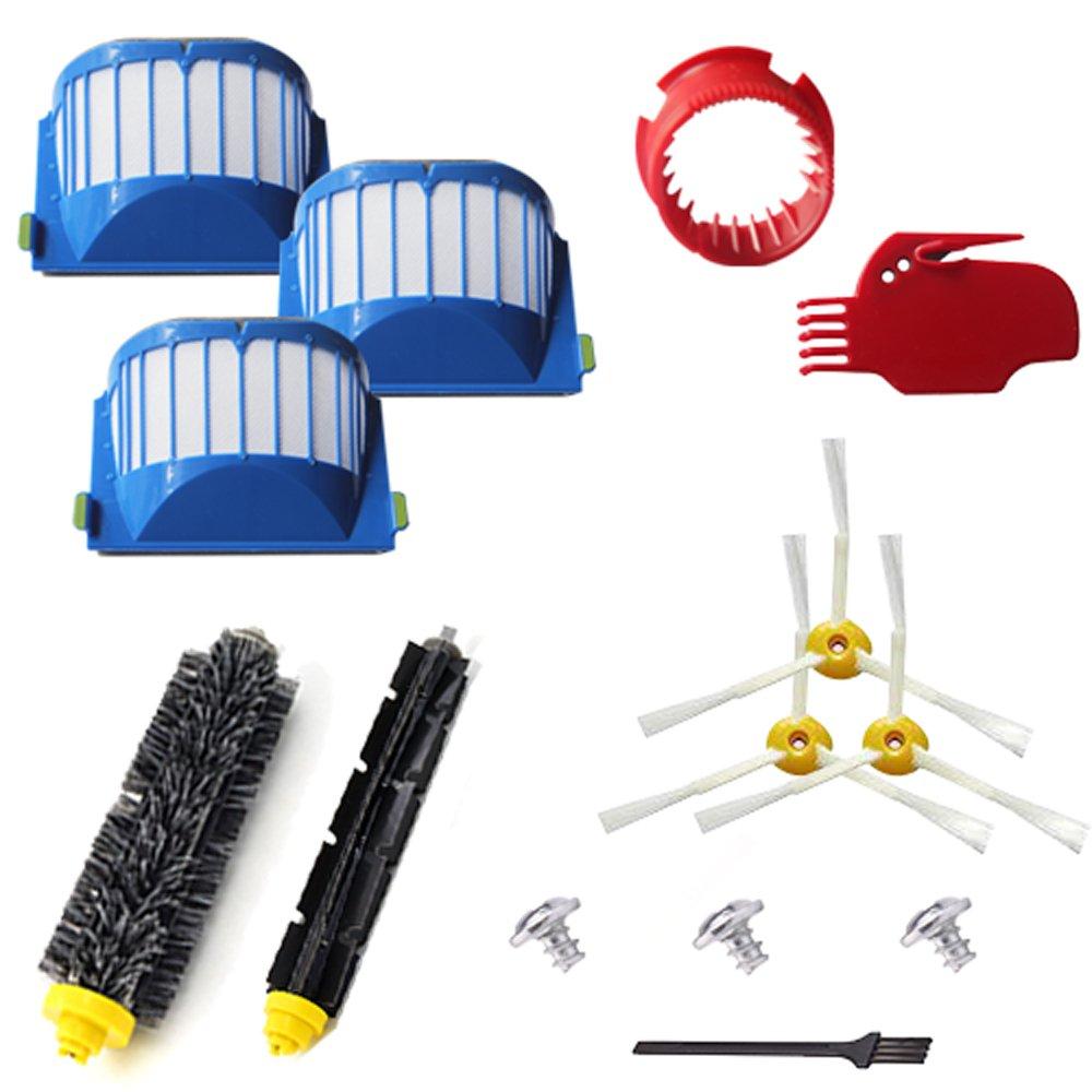 VacuumPal 10pcs Accessories for iRobot Roomba 600 Series 595 614 620 630 645 650 655 660 680 690 Vaccum Cleaner Replenishment Parts Kit