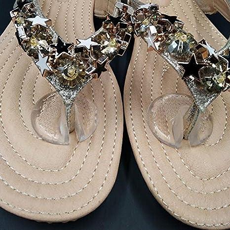 Coussinets protecteurs dorteils pour tongs 5 paires de protections transparentes en gel de silicone pour sandales tongs Coussinets antid/érapants pour entre-doigt de pied
