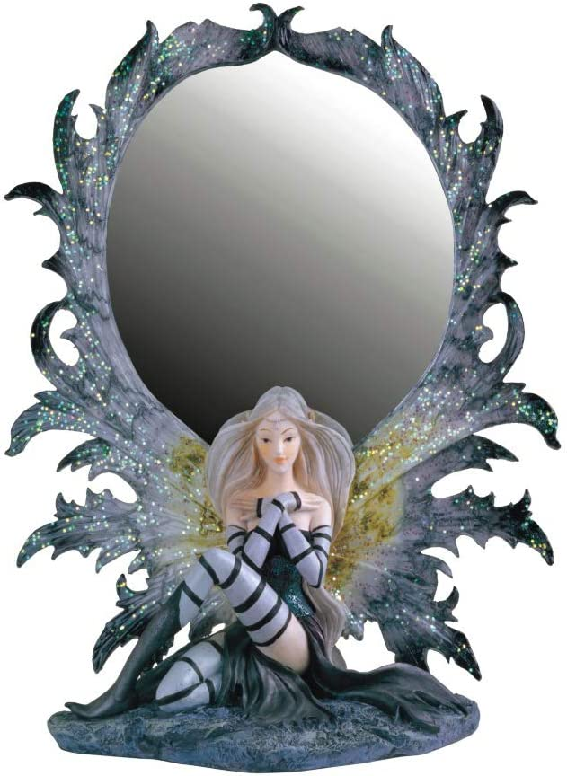 Grey 10 H GS91380 Paykoc Imports Fairy with Mirror