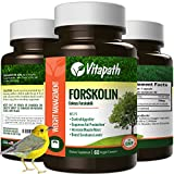 Forskolin Extract for Weight Loss, All Natural 250mg Appetite Suppressant Energy Booster, Healthy Fat Burner Formula With Forskohlli & 70% HCA -60 Veggie Caps- By Vitapath