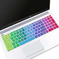 "cubierta de teclado para 17.3"" HP Envy 17m-ae111dx, 15.6"" HP Pavilion x36015-br075nr, HP Envy x36015m-bp012dx 15m-bp011dx 15m-bq021dx, Pavilion 15-cb010nr 15-cb071nr 15-cc010nr 15-cc020nr, Arcoiris (Rainbow), 15.6 HP 15M 15-CC"