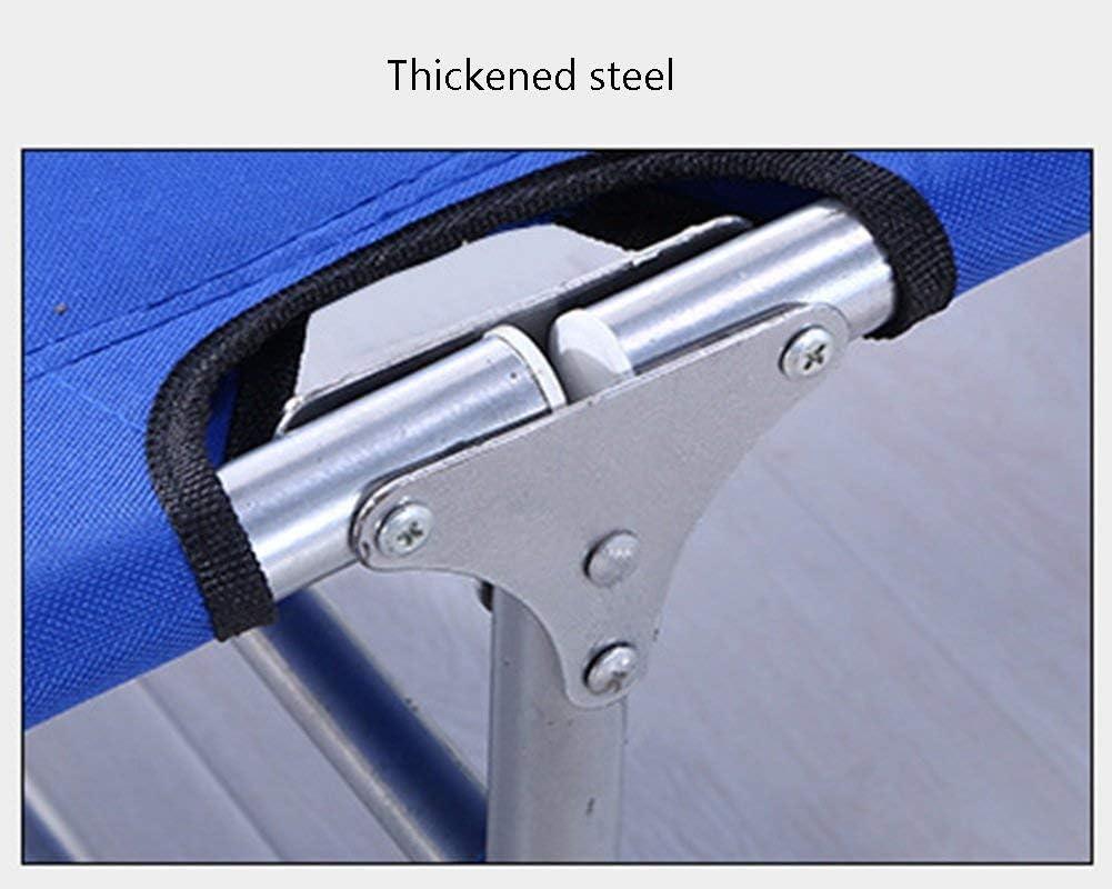 LUNAH Chaise Pliante Chaises de Plage Chaise Longue pour Chaise de Voyage en métal pour siège de pêche en Plein air pour Adulte, Bleu, cale 103kg (Couleur: Treillis) Blue