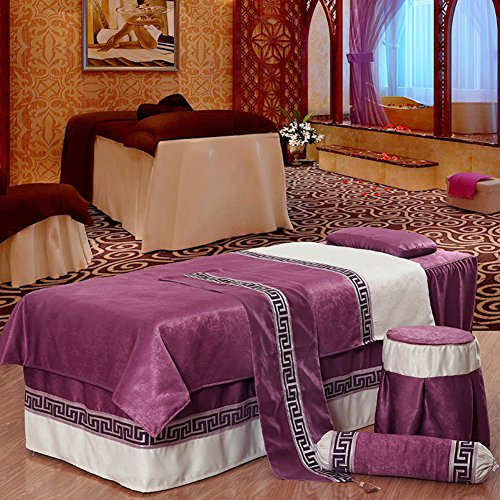 Thickened Beauty Bed Bed Cover Body Massage Health Museum Bed Linen Pure European spa Special Bed Sheets-B from Beauty bed linen