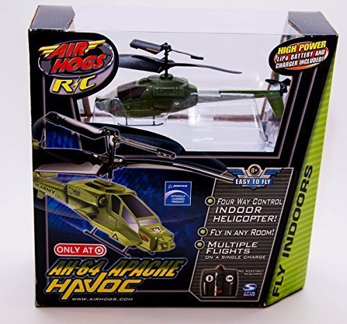 Air Hogs R/C AH-64 Army Apache Havoc Heli Indoor Infrared Micro Helicopter