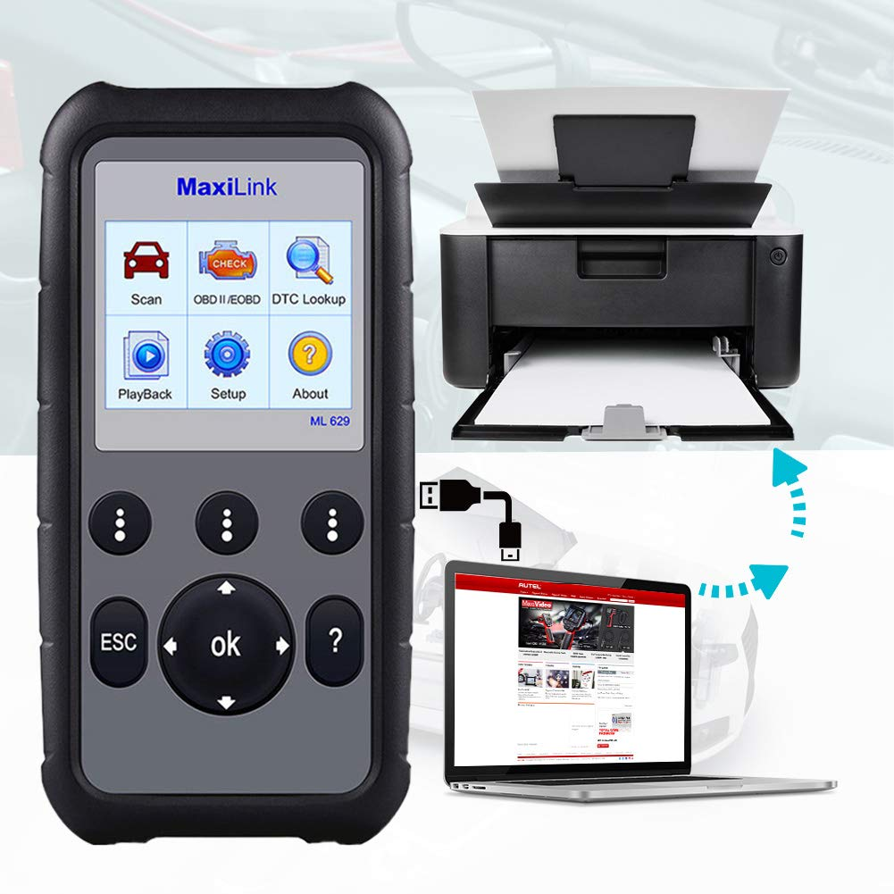 Autel MaxiLink ML629 OBD2 Scanner Upgraded Version of ML619, DTC Lookup, Ready Test, ABS/SRS/Engine/Transmission Diagnoses by Autel (Image #5)