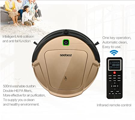 Amazon.com - seebest Robot Vacuum Cleaner with Gyroscope Navigation ...