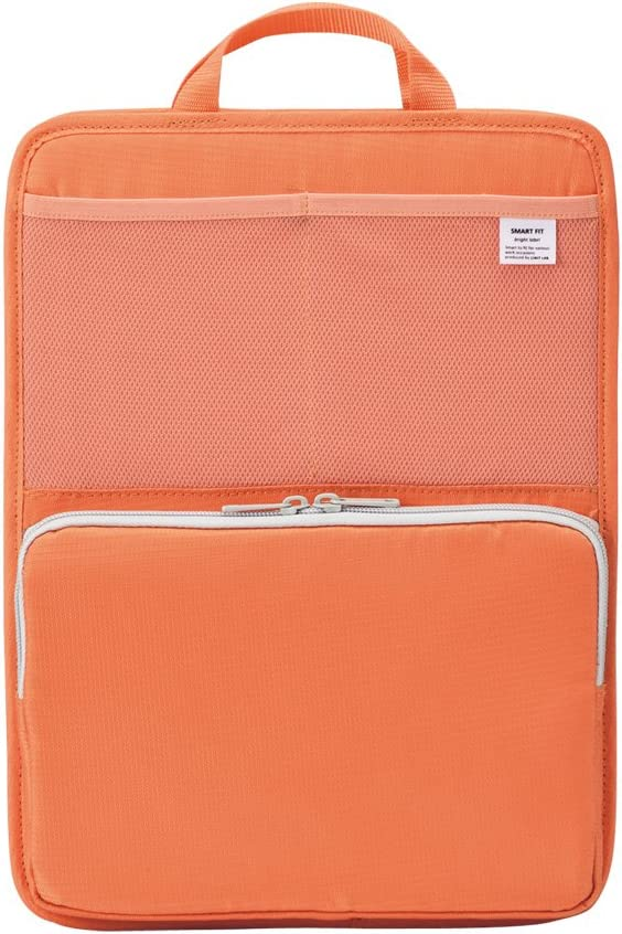 LIHIT LAB Bag Insert for Organization, Holds Laptops & Tablets, 13.5 x 10 inches, Orange (A7668-4)