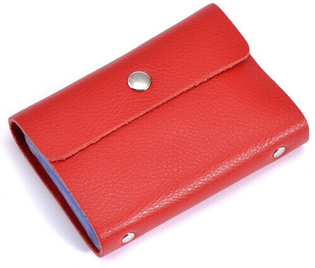 Brilliance Coクレジットカードホルダー女性用レザー、26枚のカードを収納(レッド)   B00KDCFZZU
