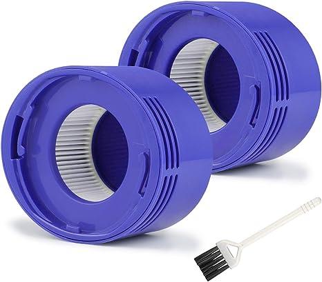 MXZONE Juego de 2 filtros HEPA para aspiradoras Dyson V7 V8 Absolute y Animal, pieza de filtro de repuesto #967478: Amazon.es: Grandes electrodomésticos