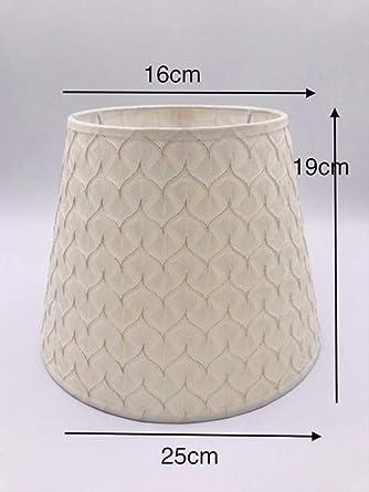FMWLKJ - Pantalla para lámpara de mesa (lino y PVC), color beige ...