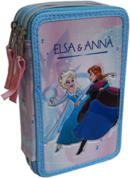 Astuccio Porta Penne Scuola Disney Frozen 2 Elsa /& Anna Multicolor 21 cm