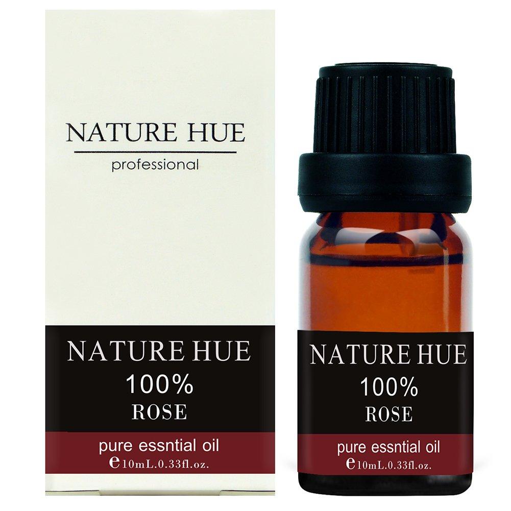 Nature Hue - Rose Essential Oil 10 ml, 100% Pure Therapeutic Grade, Undiluted