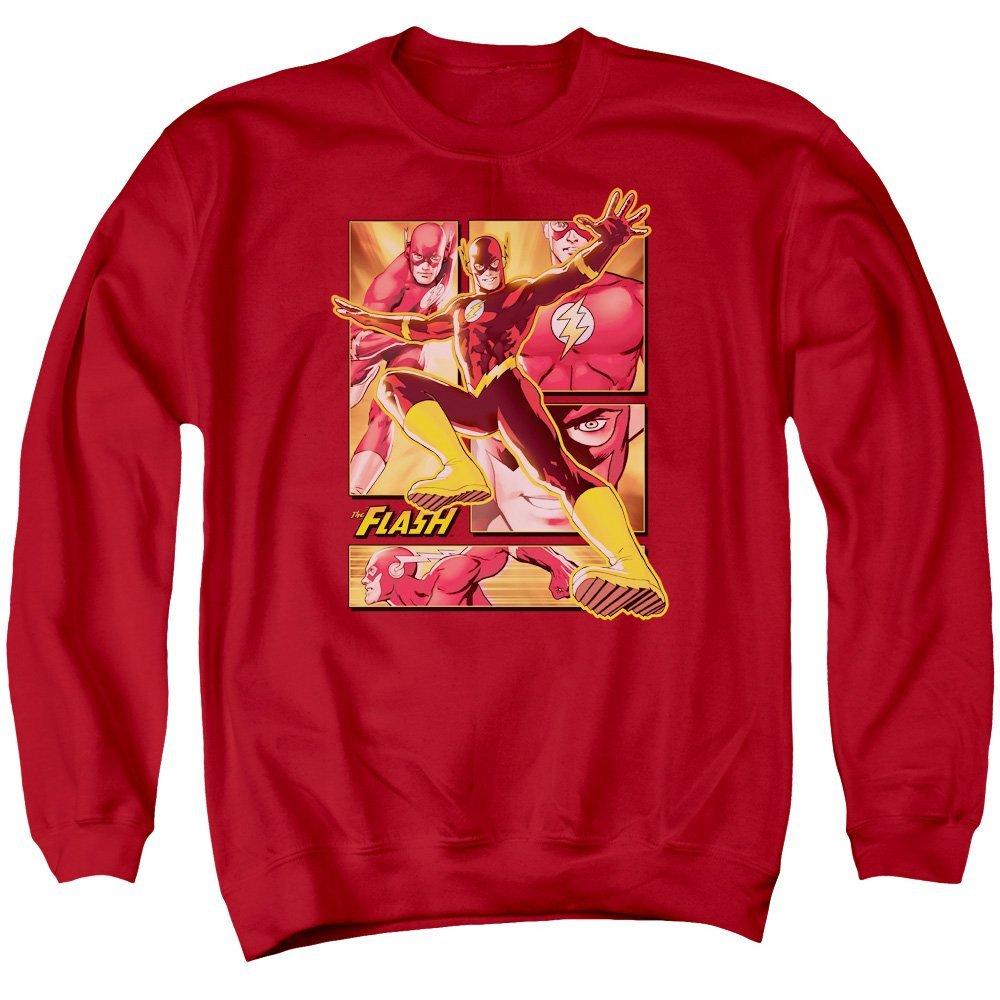 Panels Adult Crewneck Sweatshirt The Flash