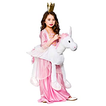 d22b8553 One Size Boys or Girls Ride on Unicorn Costume Outfit for Animals Creatures  Fancy Dress